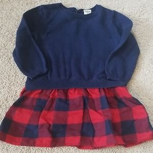 Blue and red sweater with plaid sixty-one piece